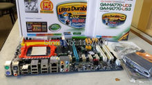 Motherboard for GA-MA770-US3 SOCKET AM2 AM2+ AND AM3 AMD770 CHIPSET 4 DDR2 1394 RAID ATX well tested working