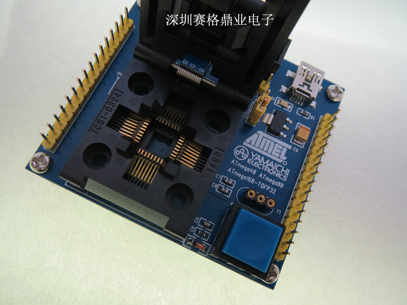 Image 4 - IC51 0324 1488 QFP32 TQFP32 ATmega8 IC testing seat  test bench Test Socket Programming Socket Burn in Socket New&Original-in Integrated Circuits from Electronic Components & Supplies