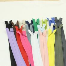 Alipress 40cm Invisible Zippers 50PCS 3# DIY Nylon Coil Zipper For Sewing Cushion/Back Tailor Tools