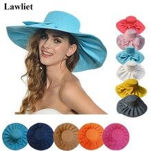 e63eb07f10ac1 AliExpress.com Product – A047 Linen Summer Womens Kentucky Derby Wide Brim  Sun Hat Wedding Church Sea Beach