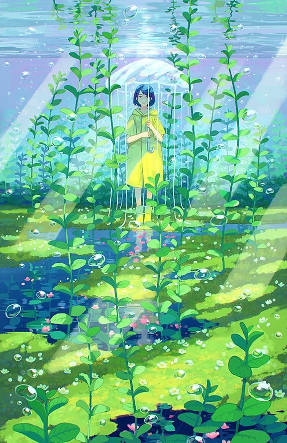 [pixiv]P站官网萌乡绅士推荐插画 那个第一个向我表白的人,谢谢你让我知道了人生的第一次被爱