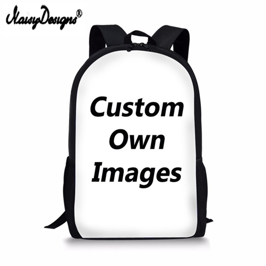 Noisydesigns School Backpack Children Custom Your Image Print Retro Book Shoulder Desiger Bags Famous Brand Women Kids Boy Girls
