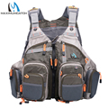 Maomumcatch Top Qulity Mesh Fly Fishing Vest Fishing Back Multifunction Pockets Fishing Backpack Vest