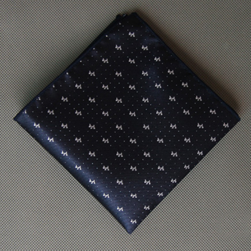 Men's Suits Small Handkerchiefs Woven Floral Printing Pocket Square Polka Dots Hankies Pocket Hanky Chest Towel