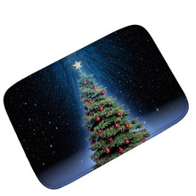 Christmas Night Indoor Absorbs Dirt Doormat Non Slip Door Mat for Front Door Inside Floor Entrance Rug 40*60cm,50*80cm,60*90cm