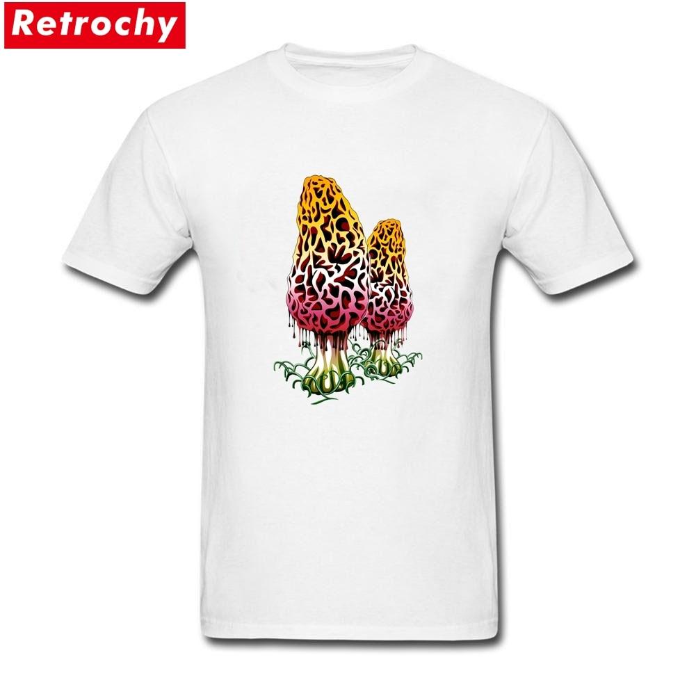 Mushroom Colors Merchandise T Shirts Short Sleeves Mens Spandex Cotton Designer Tees