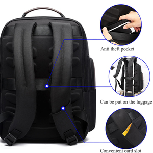 Image 3 - BOPAI New Black Multi Pocket Men Backpack Business Solid Nylon Men Daypacks Mochila Bags Convenient USB Charging Backpack Women