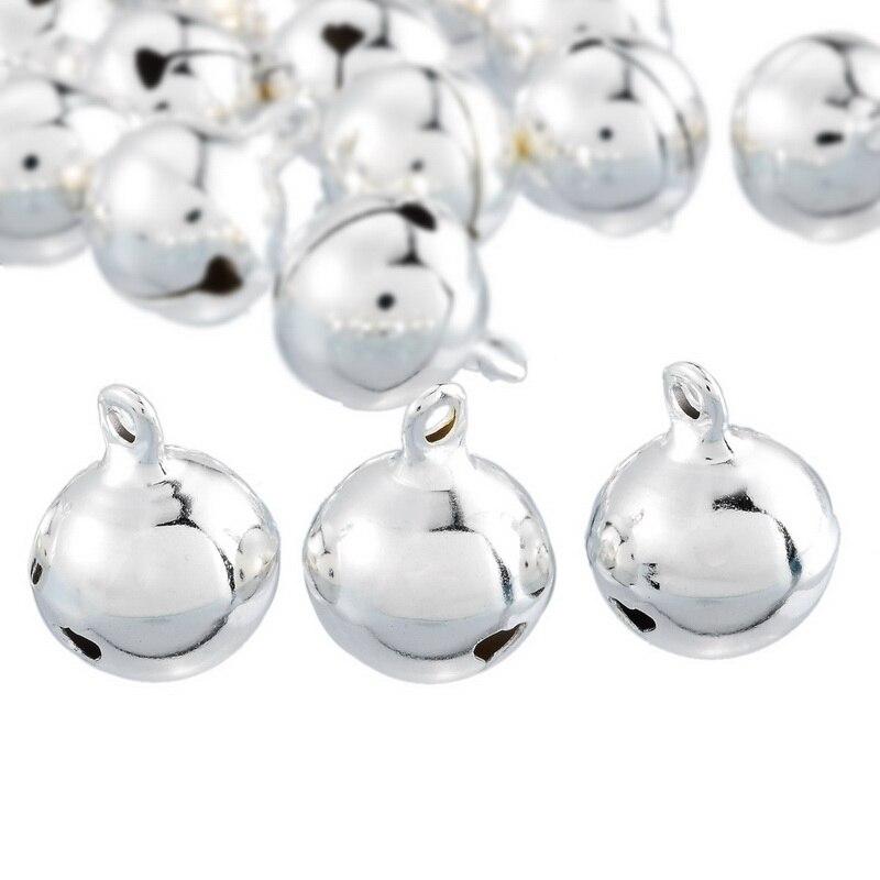 Homemade Christmas Ornaments Jingle Bells: 20PCs Silver Bells Pendants Hanging Christmas Tree