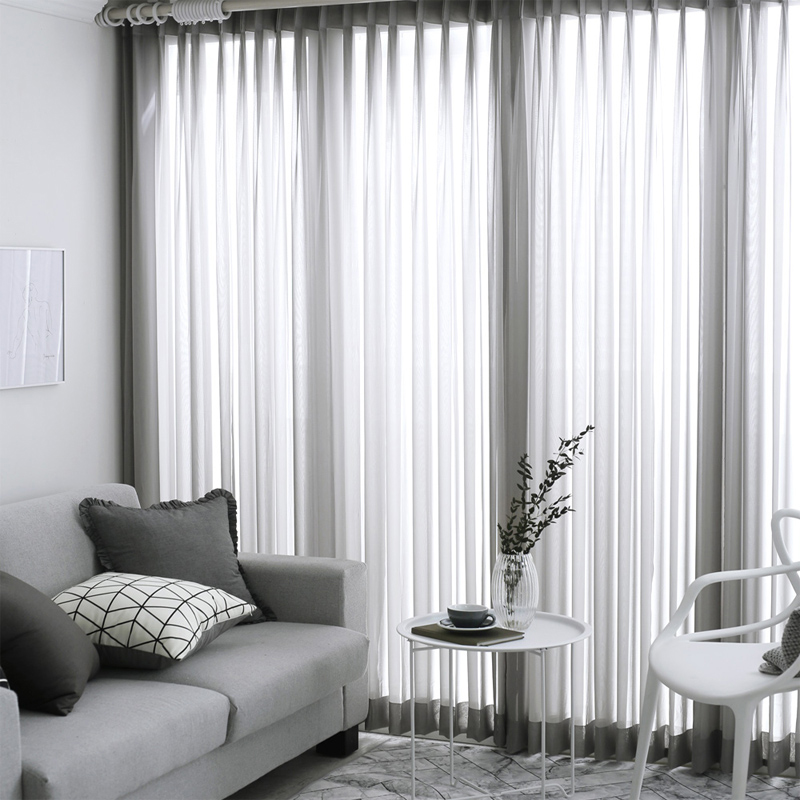 US $5.19 35% OFF|Solid Sheer Curtains Japanese and Korean Bedroom  Decorations Kitchen Tulle Window Curtain Living Room-in Curtains from Home  & Garden ...