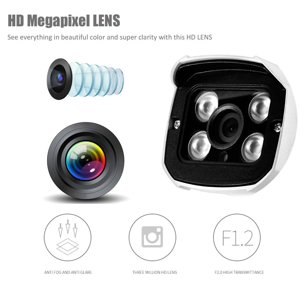 Full HD 1080P 720P Security AHD Camera Outdoor Waterproof 4pcs Array infrared Night Vision Metal Bullet Surveillance CCTV camera