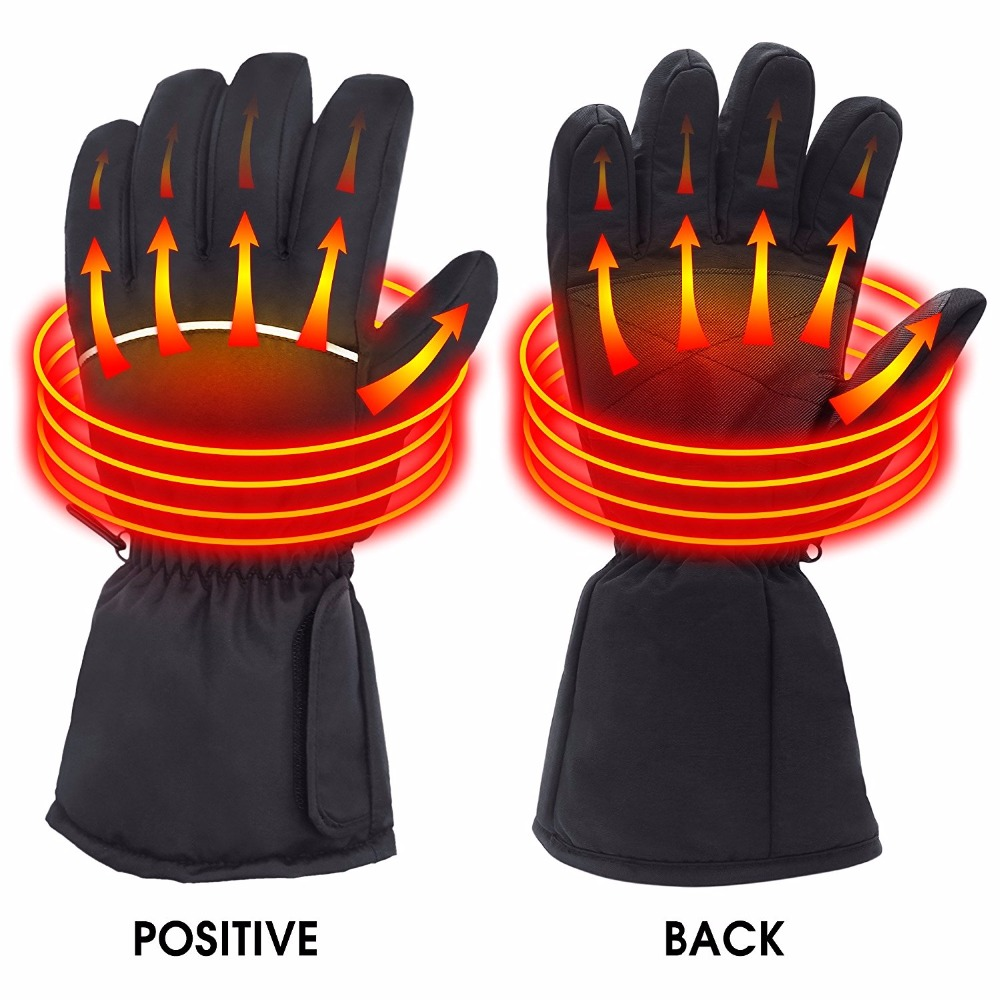 все цены на Outdoor Hunting Electric Warm Waterproof Heated Gloves Battery Heating Gloves For Motorcycle Hunting Winter Warmer онлайн
