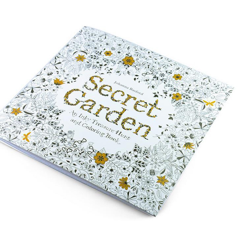 New Arrival Relieve Stress For Adult Painting Drawing Book 24 Pages Secret Garden  Kill Time English  Colouring Books