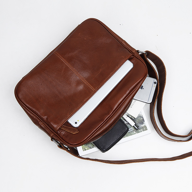 LANSPACE men's leather messenger bag cross body bag new design shoulder bags Leisure handbag