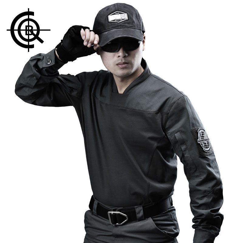 CQB Spring Outdoor Military Fans Tactical Long Sleeved Combat Frog T-shirt Men's Training Quick Dry Fishing T-shirt CYF1175