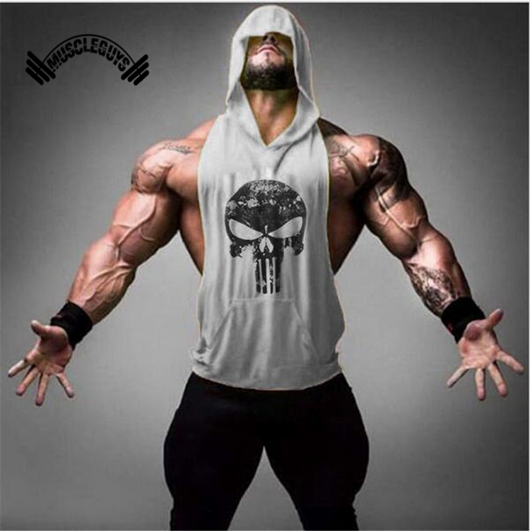 Muscleguys Marchio di Abbigliamento Fitness Canotta Uomini Ori Bodybuilding Shirt Allenamento Muscolare Stringer Vest palestre Canottiera Plus Size