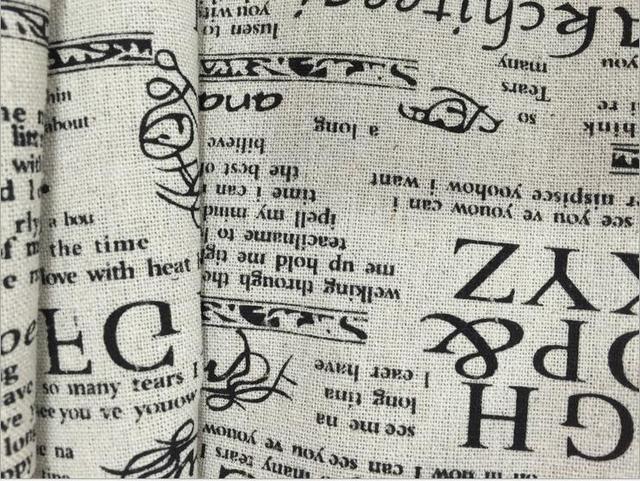 100*150 cm rétro d\'ameublement coton et mélange de lin tissu par ...