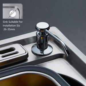 Image 2 - מטבח סבון dispenser משאבת 304 נירוסטה בקבוק נחושת ראש מטבח כיור נוזל סבון מכשירי יד