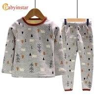 Babyinstar Baby S Cute Cartoon Printed Pajamas Sets Cotton Warm Boys Girls Home Nightwears 2017 New