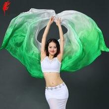 Nuovo arrivo danza del ventre velo danza del ventre delle donne Rayon sciarpa 102*44.8 pollici di danza del ventre a mano sciarpa 5 colori