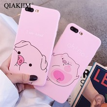 Cute Cartoon Pig Phone Case For iphone X XS Max XR Case For
