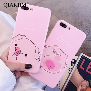 Cute Cartoon Pig Phone Case For iphone X XS Max XR Case For iphone 6 6s 7 8 plus Cover Fashion Funny Nose TPU Soft Cases Fundas(China)