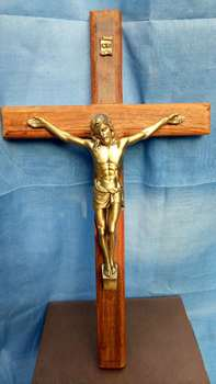 35 CM large TOP  Christianism Home Decor Jesus Christ On Cross the crucifixion Crucifix  Religious metal wall cross statue