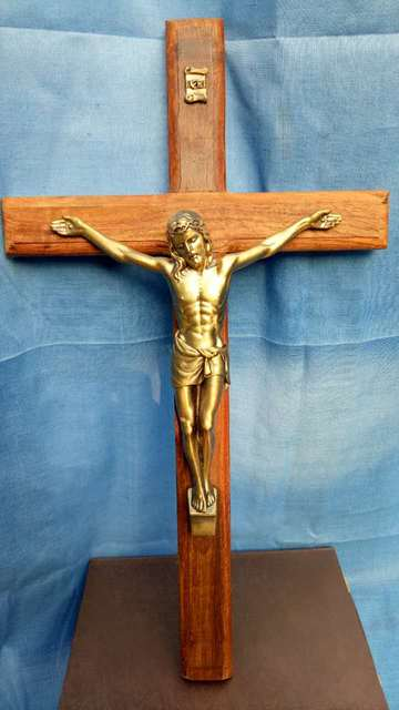 35 Cm Large Top Ism Home Decor Christ On Cross The Crucifixion Crucifix Religious Metal