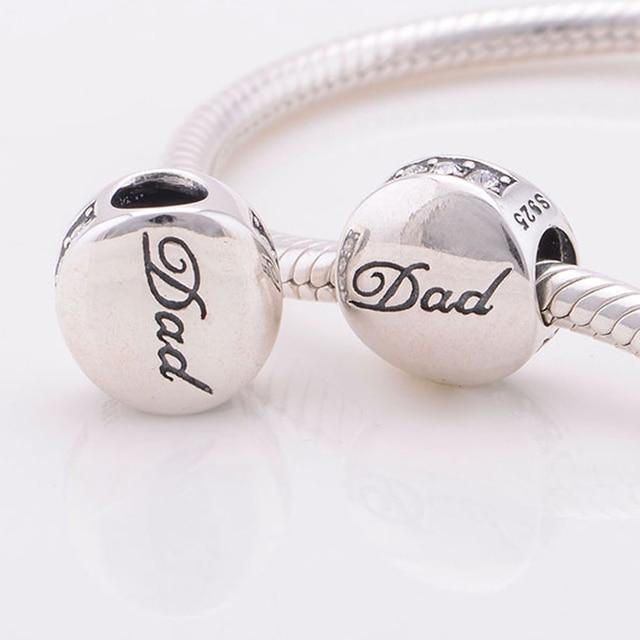 Fits pandora charms bracelet 925 sterling silver beads dad charm fits pandora charms bracelet 925 sterling silver beads dad charm with cz diy bracelets necklaces aloadofball Choice Image