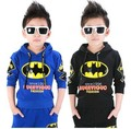 2017 Autumn winter New fashion Children 's 1-8 year clothes boys sports suit  kids Batman pattern coat jacket + pants sets