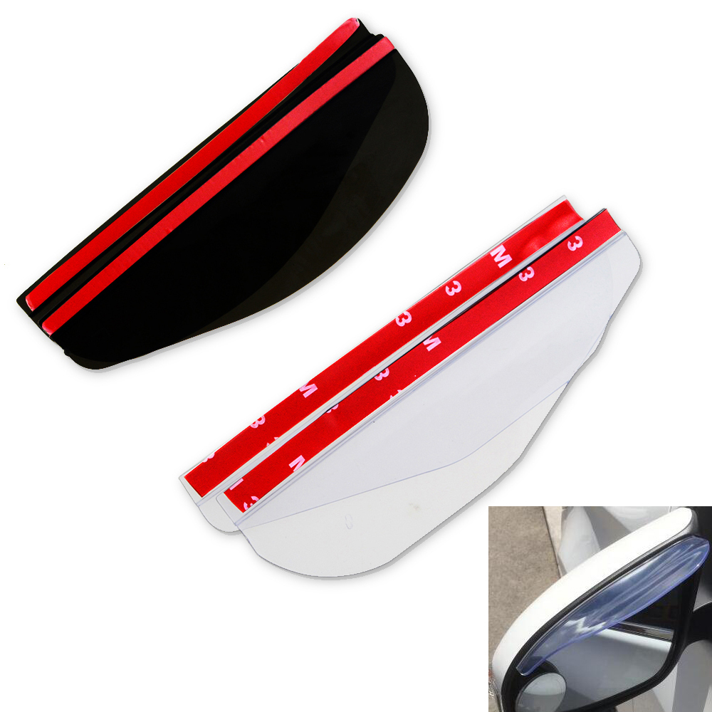 2pcs/lot Universal Flexible PVC Car Accessories Rearview Mirror Rain Shade Rainproof Blades Car Back Mirror Eyebrow Rain Cover
