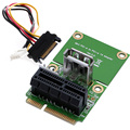Мини PCI-E1X до PCI-E PCI-Express С USB Riser Card Converter 4-контактный Кабель Питания