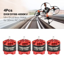 4Pcs DXW D1106 4000KV 1-3S Mini 1.5mm Brushless Motor for 90mm Micro RC Racing Drone Multicopter Quadcopter Aircraft UVA