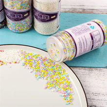 85g Small beads Edible pearl SUGAR BALL fondant DIY cake baking Silicone Chocolate decoration sugar candy fimo clay cake decor(China)