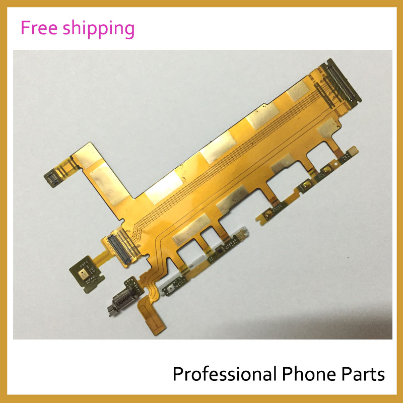 10pcs/lot Original New Power Switch microphone Flex Cable For Sony Xperia Z3 Dual D6633 Parts In Mobile Phone free shipping