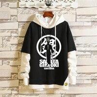 Japan Anime Attack On Titan GINTAMA Sweatshirts Coat Halloween Party warm autumn winter Hoodie jacket cosplay Costumes
