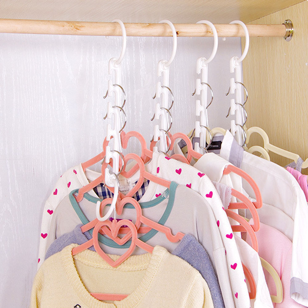 1pcs 3D Space Saving Hanger Magic Clothes Hanger with Hook Closet Home Stroage Racks Folding Rotary Storage Hangers