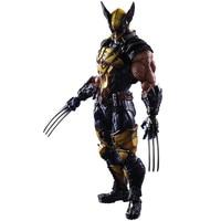 Play Arts Kai Wolverine Figure LOGAN X Men X 23 Wolverine James LOGAN Howlett Play Art KAI PVC Action Figure 26cm Model