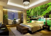 Home Decoration customized wallpaper for walls Green water landscape wallpapers for living room decorative brick wall