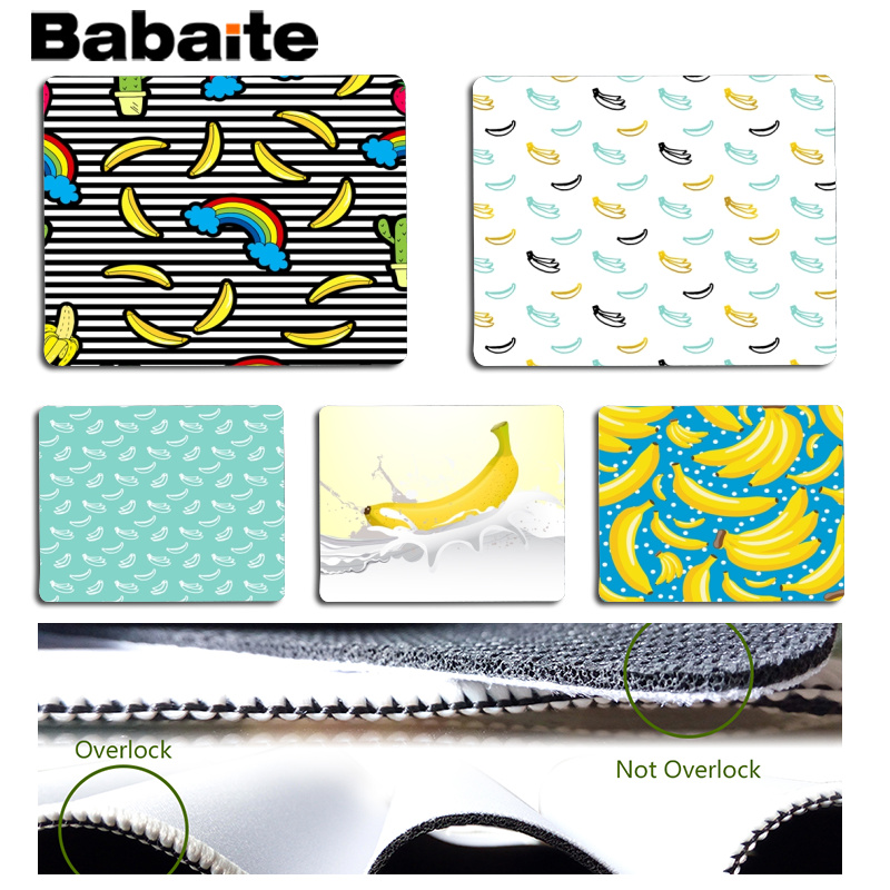 Babaite New Design Banana and Milk Computer Gaming Mousemats Size for 18x22cm 25x29cm Rubber Mousemats