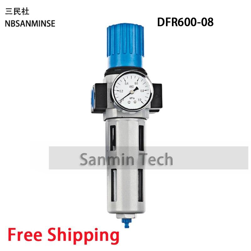 где купить Sanmin DFR FESTO Type M5 1/8 1/4 3/8 1/2 3/4 1 OC DC Series Air Regulator Filter FRL Units Lubricator Pneumatic Filter Regulator по лучшей цене