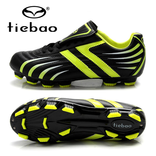TIEBAO Brand Professional Men Women Soccer Shoes Adult Outdoor Football  Training Shoes FG   HG Soles 92499b6aef