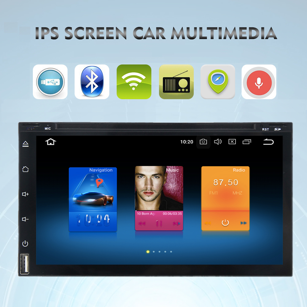 6 95 IPS Car DVD player Universal 2din Car Multimedia Autoradio vehicle GPS 1024 600 head