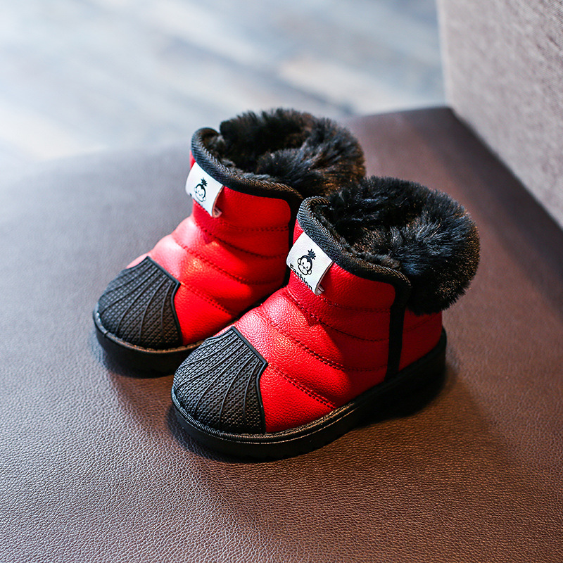 2017 Winter Baby Girls Boys Snow Boots Warm Outdoor Children Boots Waterproof Non-slip Kids Plush Boots Infant Shoes