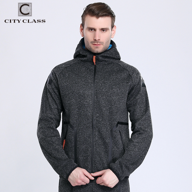 CITY CLASS 2018 Autumn Winter Men's Hoodies of Brand Clothing Harajuku HipHop Sweatshirts for Male Outerwear Waterproof zip 2766