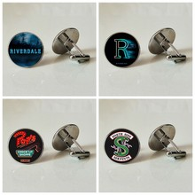 Glass Cufflinks RIVERDALE Business Shirt Cufflinks Handmade Personality Photo Cufflinks Archie Andrews Cufflinks(China)