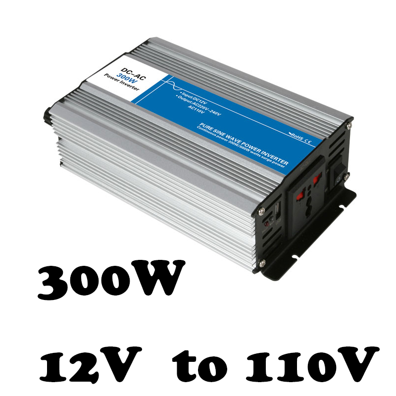 цена на 300W 12v dc to 110v ac  pure sine Wave inverter voltage converter off grid solar inverter electric power inversor AG300-12-110
