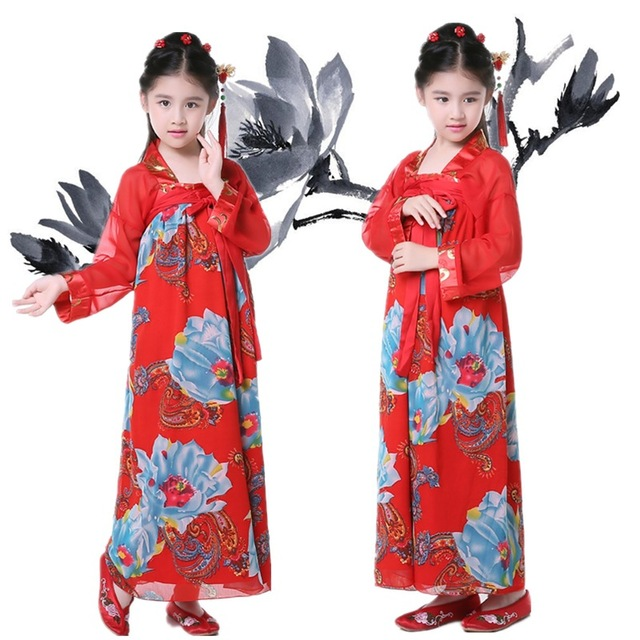 kind traditionellen chinesischen kost m m dchen hanfu kleid kaiserin wu zetian cosplay dance. Black Bedroom Furniture Sets. Home Design Ideas