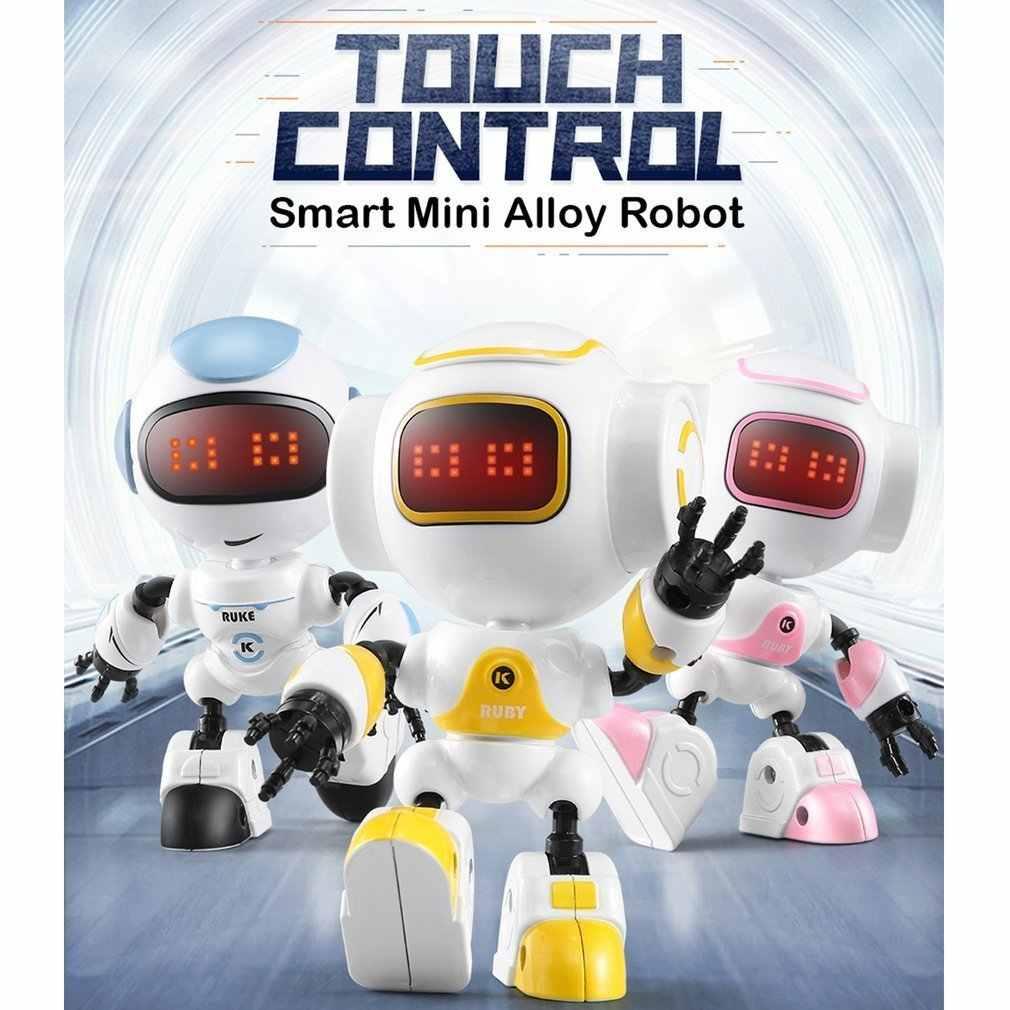 """JJR/C R8 сенсорный зондирования Светодиодный Eyes RC робот умный голосовой """"сделай сам"""", жест модель для детей подарок на день рождения подарки подарок"""