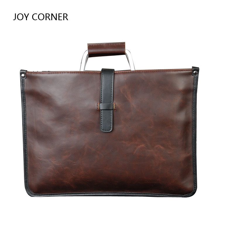 Waterproof PU Retro File Bag File Folder Document Filing Bag 38*28cm Office Supply Organizer Business Accessories купить