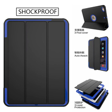 360 Full protection Case For apple ipad 2 3 4 9.7 inch Kids Safe Shockproof Heavy Duty TPU Hard Cover kickstand for IPad2/3/4